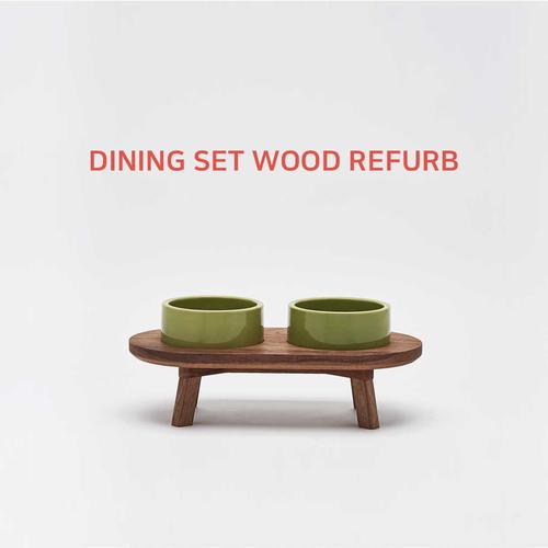 DINING SET WOOD REFURB